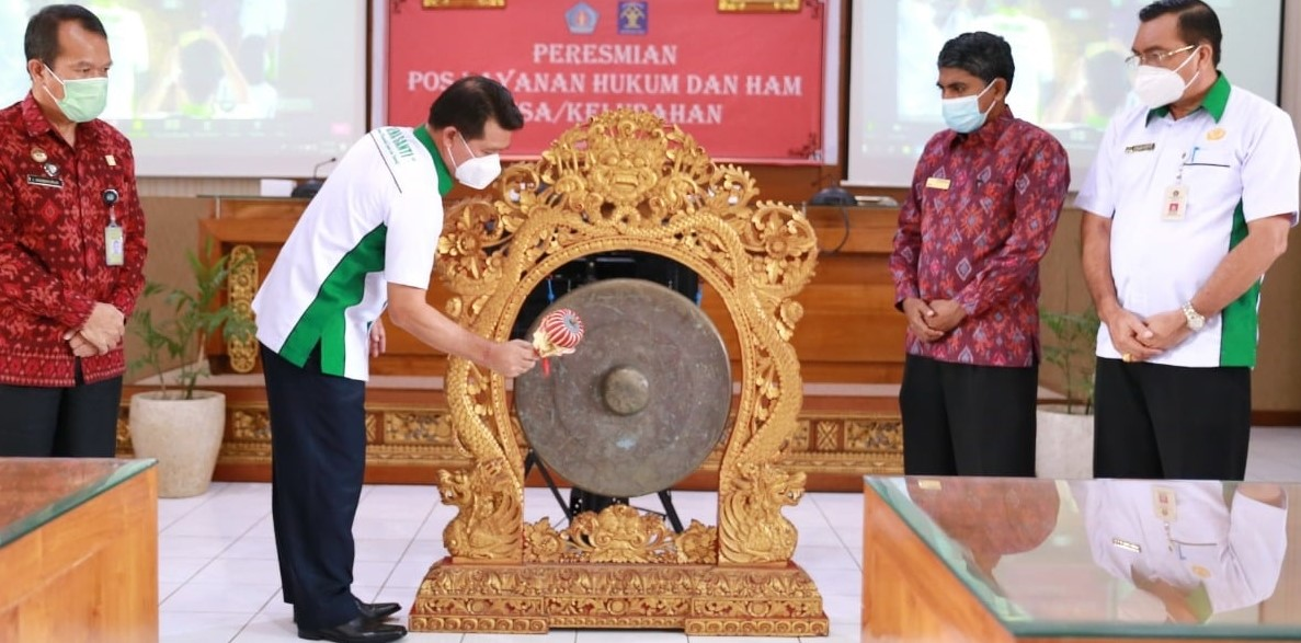 Bupati Suwirta Resmikan Posyankumhamdes se-Kabupaten Klungkung