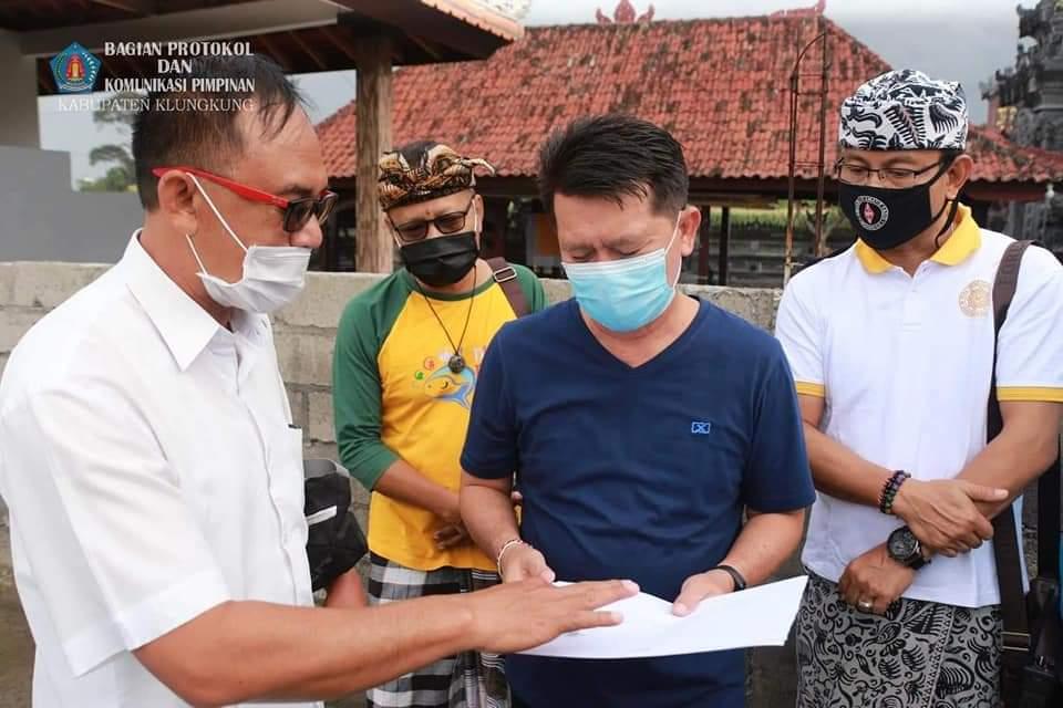Bupati Suwirta Realisasikan Permohonan Pengempon Pura Kawitan Kebon Tubuh